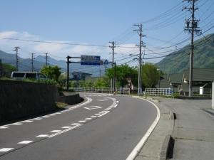 道の駅の標識とは反対の、右側が集合場所です